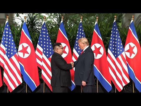 President Trump and Kim Jong Un Share Handshake