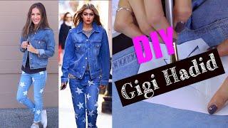 DIY Gigi Hadid's Cute Denim Look! (STYLEWIRE)   Hollywire
