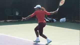 Serena Williams practicing forehand, Miami - Sony Ericsson Open 2013.