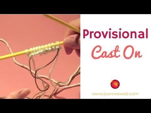 Knitting Stitches Provisional Cast On : Provisional Cast-On with Scrap Yarn Live Stitch Knitting Floating Stitche...