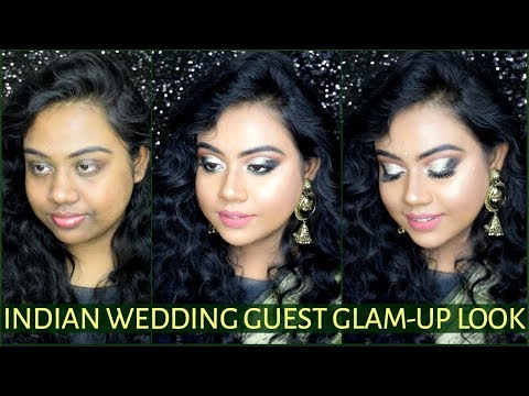 INDIAN WEDDING GUEST MAKEUP TUTORIAL STEP BY STEP | INDIA