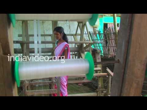 Silk-thread spinning in Sualkuchi, Assam