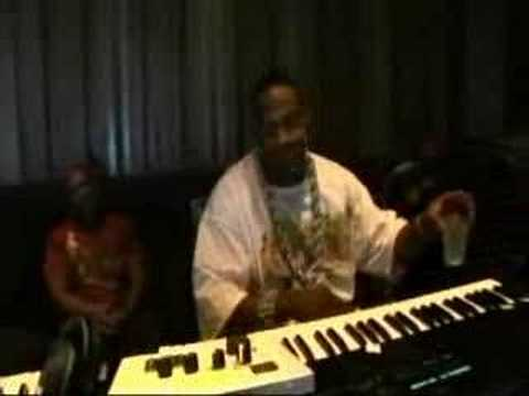 Timbo & Busta Rhymes in studio