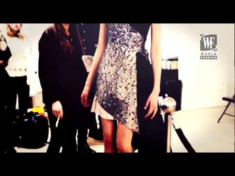 Backstage Mary Katrantzou Fall Winter 2014-15 London Fashion Week