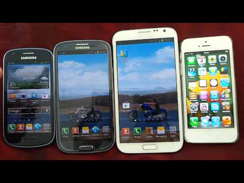 SAMSUNG GALAXY S3. S3 MINI AND NOTE 2 TAKES ON IPHONE 5: WHAT HAPPENS ?