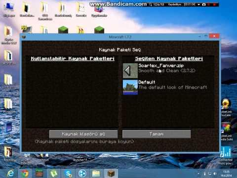 Minecraft Texture Pack  ( Doku Paketi )  Yükleme 1.7.2