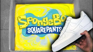 'Spongebob' DOUBLE HYDRO DIP Air Force 1 Custom