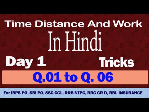 Time and distance / Time distance speed  trick in Hindi Day 1 / time distance shortcut tricks.