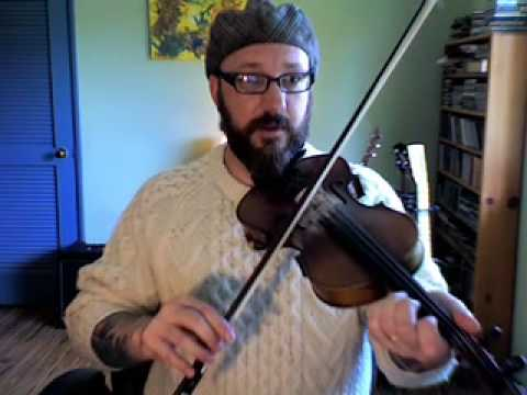 Old Time Fiddle Lesson: The Horney Ewe 2/2 (slow speed with instruction)