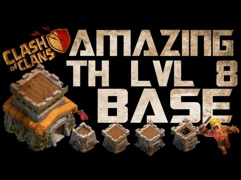 Clash Of Clans Amazing TH lvl 8 Base Setup!