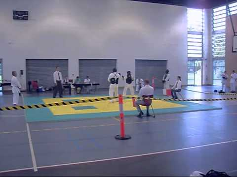 ChitoRyu Karate 2013, Mens Kumite, Open division, Nathan Eley vs Benny Crawford Part 2 Image 1