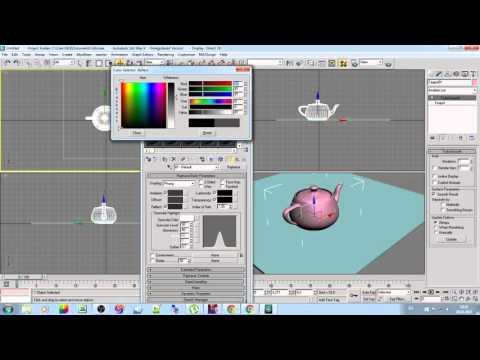 Как сделать в 3d max блеск