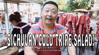 Chinese Street Food in Sichuan | Cold Tripe Salad