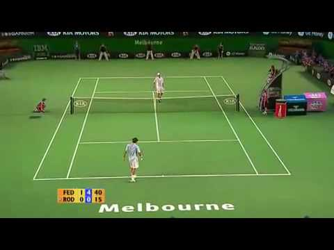 Andy Roddick Vs Roger Federer Australian Open 2007 Highlights