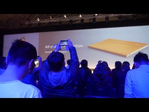 Huawei press conference launching MakeBook at MWC 2016