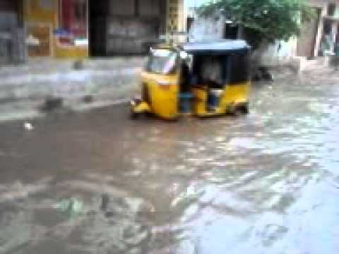 TV11 HYDERABAD NEWS HEAVY RAIN LASHED CITY RAIN WATER STOP ON ROADS