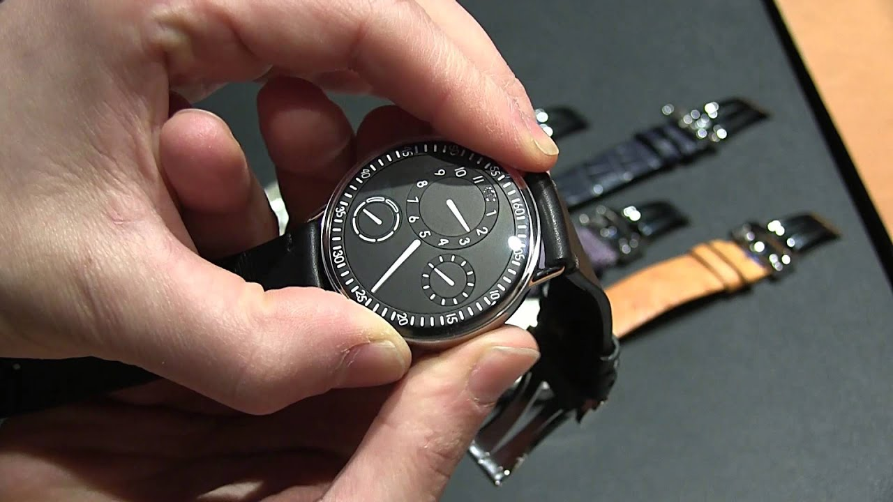 Ressence type 1 watch hands on ablogtowatch youtube for Ressence watches