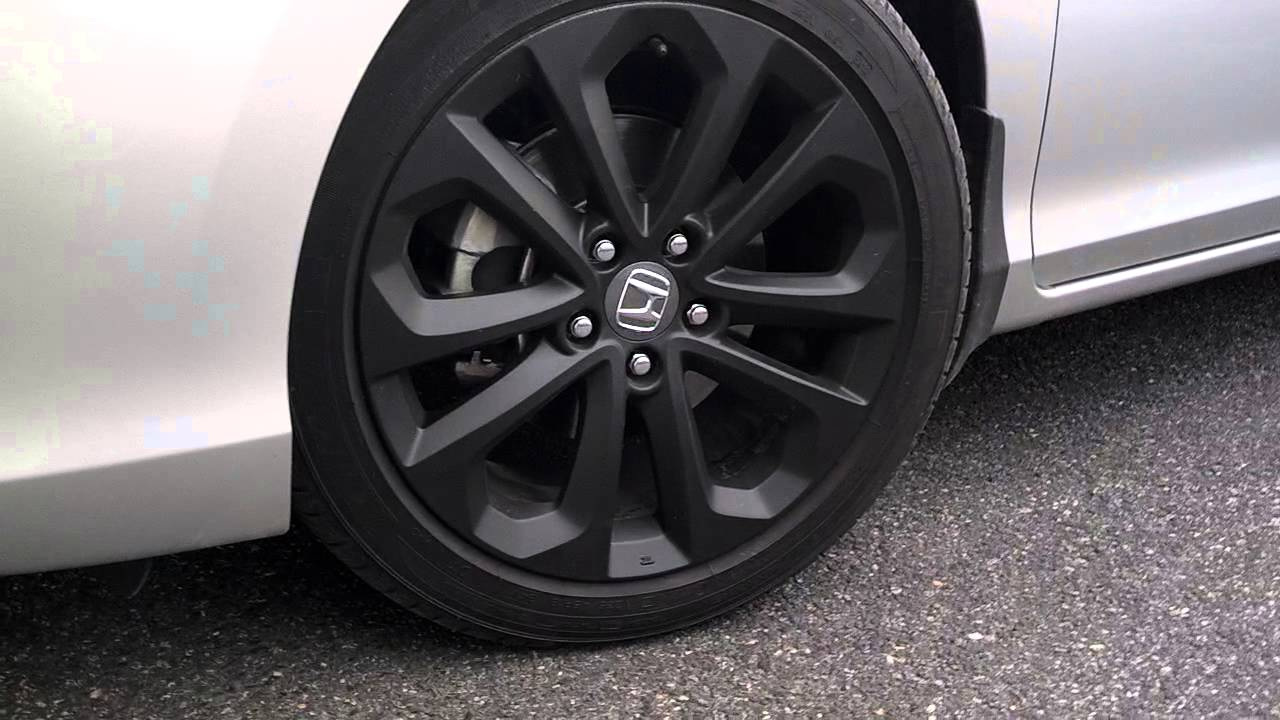 2013 Honda Accord Sport With New Black Rims Youtube