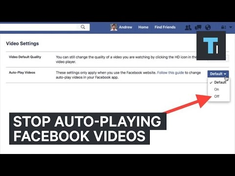 Stop Facebook videos from auto-playing