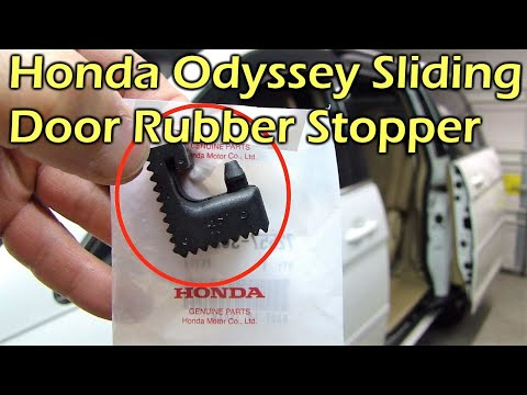 Honda Odyssey Sliding Door Rail Rubber Stopper Replace (05-10)