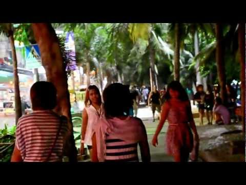 Pattaya Girls Beach Road. At Night. video