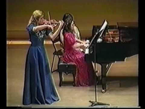 Mozart Violin Piano Sonata in E minor K.304 - 1st Movement  Alexandra Stefanato