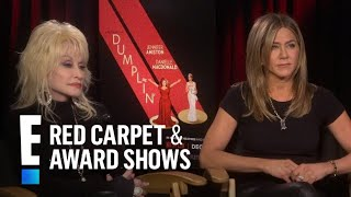 Jennifer Aniston Reacts to Dolly Parton's Hubby's Threesome Comment | E! Red Carpet & Award Shows