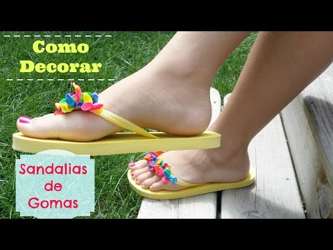Como decorar Sandalias / Flip Flops por: Alicia Borchardt