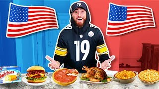 I Only Ate AMERICAN Foods For 24 Hours! *FOOD CHALLENGE*