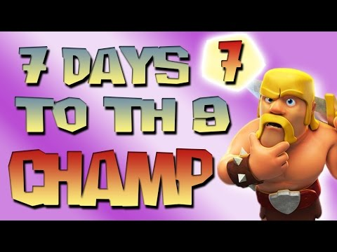 Clash of Clans - 7 Days to TH9 Champion! - Attacking Jorge Yao! Day 7 -