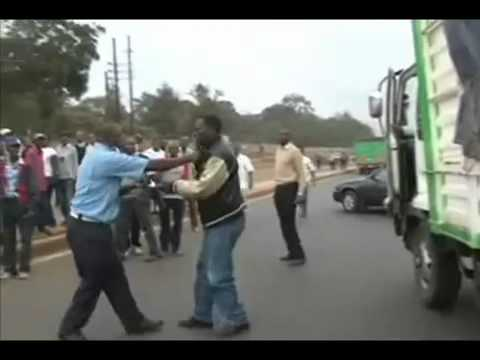 Kenyan Traffic Cop, Driver In Endless Fight