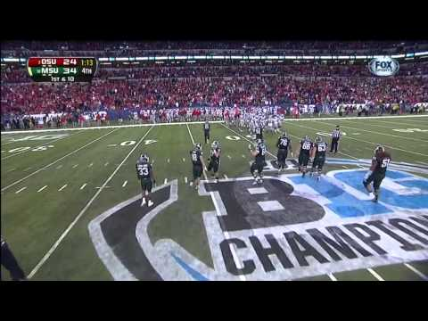 Spartan highlights from MSU's 34-24 Big Ten Championship Game victory over the Ohio State Buckeyes.