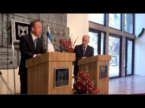 UN S-G BAN KI-MOON in ISRAEL: MET with PRES. SHIMON PERES & TZIPI LIVNI