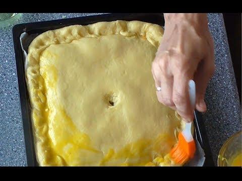 Пирог с капустой, луком, морковью и яйцами  Видео рецепт