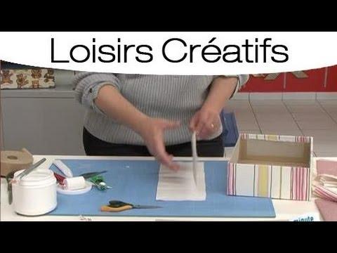 Comment fabriquer un couvercle pour une boite youtube - Comment peindre une boite en carton ...