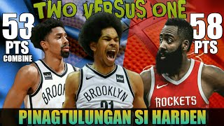 Pinagtulungan si James Harden ng Nets | Harden vs Allen & Dinwiddie Full Duel Highlights