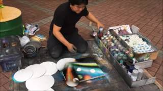 Spray ART LOCO making universe!!!!!