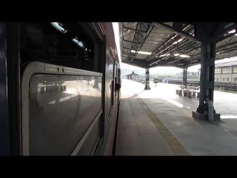 Shri Mata Vaishno Devi Katra-Jammu Tawi DEMU departing from Katra railway station!
