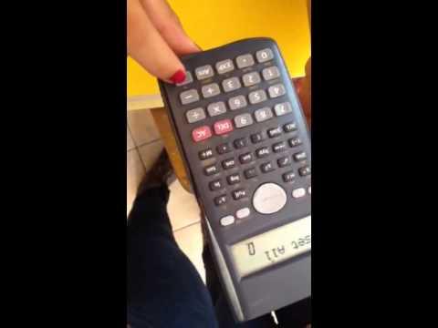 Como Resetear Calculadora Casio