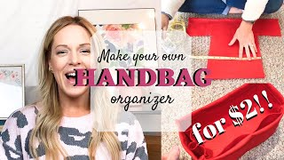 DIY Handbag Organizer | Easy & Inexpensive