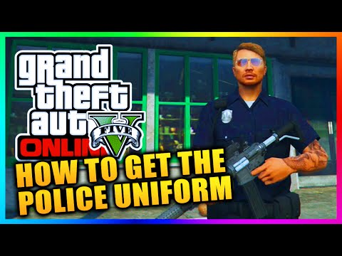 GTA 5 Heists DLC - HOW TO GET THE POLICE OUTFIT IN FREE MODE - COP UNIFORM IN GTA ONLINE! (GTA V)