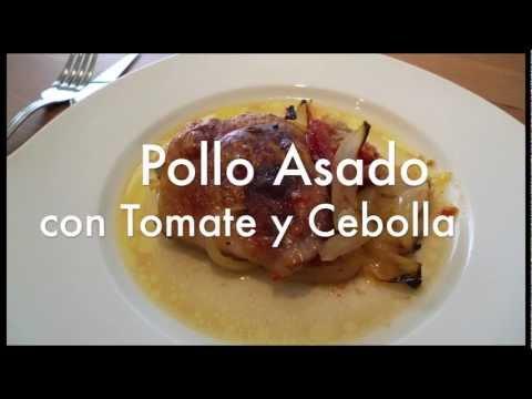 Pollo asado con tomate y cebolla - Recetas de cocina