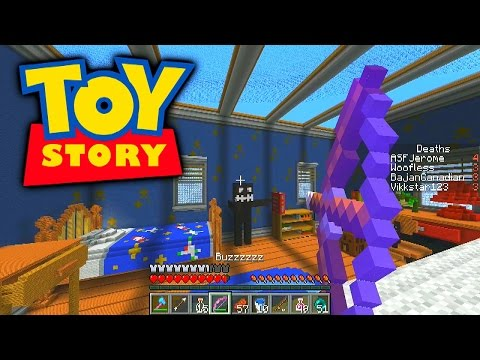Minecraft Toy Story Challenge Pvp #1 With Vikkstar, Bajancanadian, Jeromeasf & Woofless video