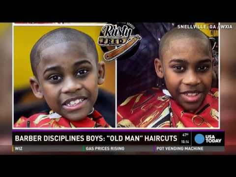 Barber offers 'old man' haircuts for misbehaving kids
