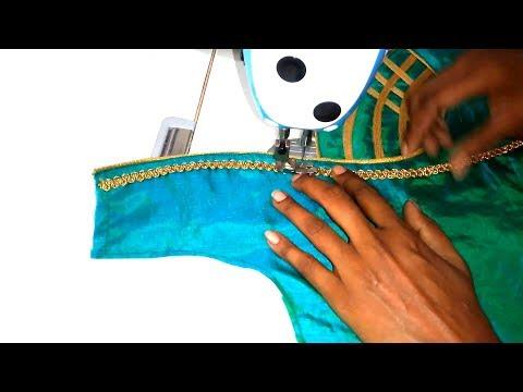 Stylish Blouse Design Stitching Class - Blouse Back Neck Design