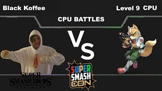 Black Koffee(Donkey Kong) vs Level 9 CPU(Fox) - Super Smash Bros Ultimate
