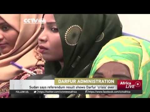 Sudan says referendum result shows Darfur 'crisis' over