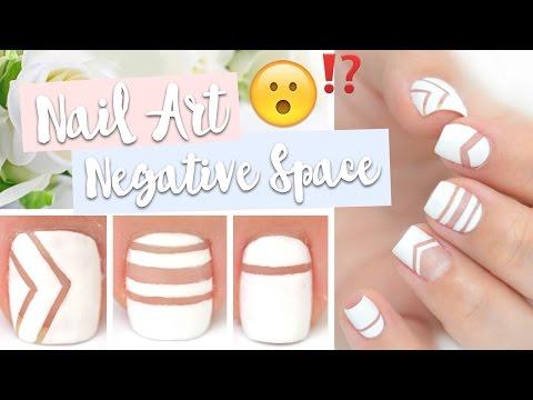 Tuto Nail Art Facile ♡ Negative Space