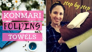 KonMari Method | Folding Bath & Face Towels | Bathroom Organization