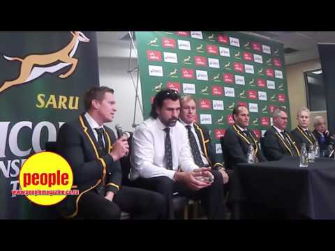 SA Rugby team team return home from world cup 2015 / Press Conference